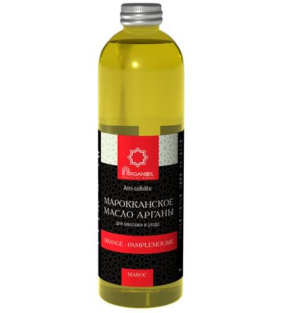 Аргановое масло для ухода и массажа (апельсин-грейфрут) 500 мл