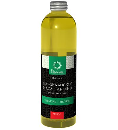 Аргановое масло для ухода и массажа (вербена-зеленый чай) 500 мл